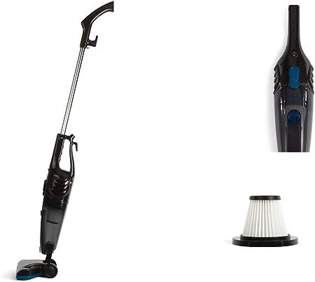 Aspiradora de mano 2 en 1, sin bolsa, aspirador ciclónico (600 W, filtro HEPA, cable de 5 m), color negro: Amazon.es: Hogar