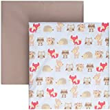 Tadpoles 2 Piece Microfiber Crib Fitted Sheets, Woodland Creatures