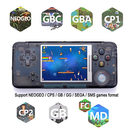LtrottedJ Portable Handheld Game Console Retro Game Console 16GB 3000 Classic Games Player (Black)