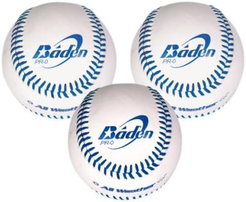 Baden 846GBPRO/3 - Pelota de béisbol (Pack de 3, tamaño Oficial, Cuero): Amazon.es: Deportes y aire libre