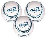 Baden PR-O, Confezione da 3 Palle da Baseball, 23 cm (9')
