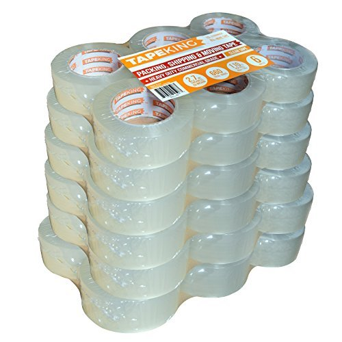 110yd Clear Tape - Tape King Clear Packing Tape - XL 110 Yards per Roll (36 Rolls) - 1.88 inch Wide Stronger & Thicker 2.7mil, Heavy Duty Adhesive Industrial Depot Tape for Moving Packaging Shipping and Commercial