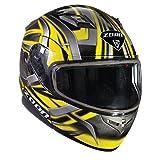 Zoan Flux 4.1 Devil Yellow Electric Lens Shield Modular Flip Up Snowmobile Helmet X-Large