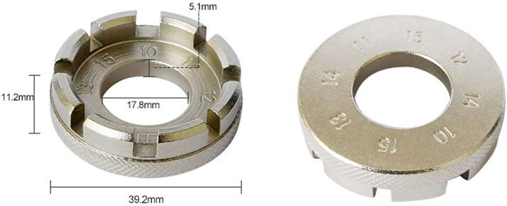 NDBGR Fahrradspeichenschl/üssel 8 Way Speichenschl/üssel Felgenschl/üssel Stahl-Reparatur-Werkzeug-Fahrrad-Zubeh/ör Zubeh/ör