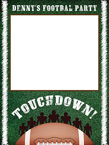 Football Sports Birthday Photobooth Frame, Sports Theme Decor, American Football, Football Birthday Party, Kids Birthday Decorations, Gift Ideas, Kids, Handmade Party Supplies Photo Size 24x36,48x36 -