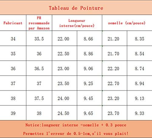 YYF Femme Chaussure a Talon de Environ 11.5/13.5 cm Elegante Confortable pour Ete Printemps pour Travail Gris 8Mby40dQu