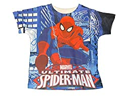 Marvel Ultimate Spider-Man Toddler Boys All Over Print Shirt (2T)