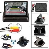 Parking System Kit, Dacawin 4.3 Car Rear View Monitor Wireless Car Backup Camera (Black)