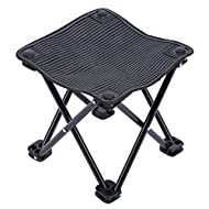Mini Portable Folding Stool,Outdoor Folding Chair for Camping,Fishing,Travel,Hiking,Garden,Beach, Quickly-Fold Chair Oxford Cloth with Carry Bag