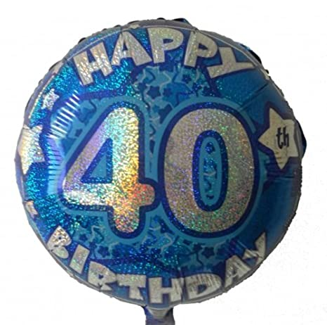 GLOBO 40 cumpleaños globo de helio con gas relleno Serie ...