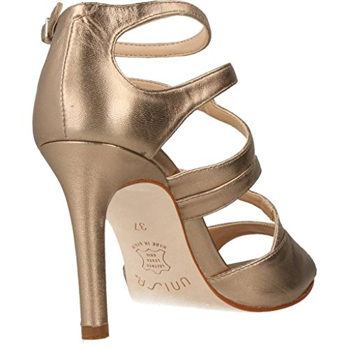 UNISA Sandalias de Vestir Para Mujer, Color Gold, Marca, Modelo Sandalias De Vestir Para Mujer WENCE LMT Gold Gold