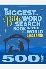 The Biggest Bible Word Search Book in the World (LARGE PRINT): 500 Puzzles Paperback