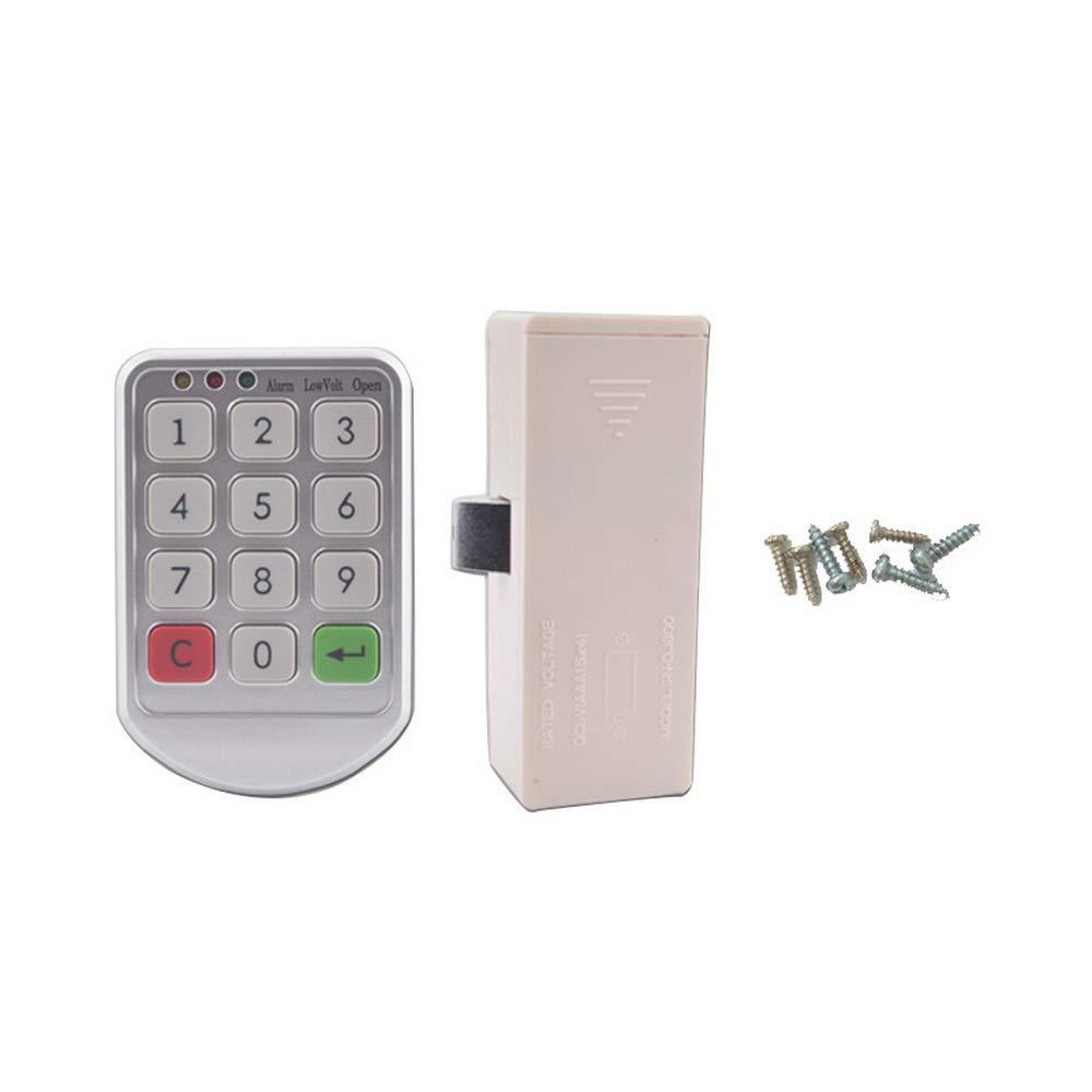Godagoda Electronic Cabinet Lock Kit Set, Digital Keypad Cabinet Lock with Password Entry - Keyless Cabinet Door Lock Knob Locker Lock(Steel Cabinet)