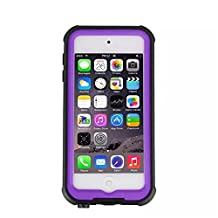 iPod Touch 6 Waterproof Case, KAMII [New Release] Knight Series Waterproof Shockproof Dirtproof Snowproof Case Cover with Kickstand for Apple iPod Touch 5th 6th Generation (Purple)