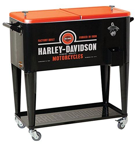 Harley-Davidson Forged in Iron Sturdy Rolling Cooler, Black & Orange HDL-10071