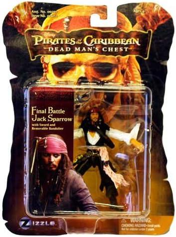 Pirates of The Caribbean Dead Man/'s Chest Captain Jack Sparrow Zizzle Figure