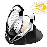 Egg Slicer, Egg Cutter Heavy Duty Slicer for Strawberry Fruit Garnish Slicer, Stainless Steel Wire with 3 Slicing Styles