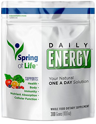 Spring of Life Daily Energy Superfood Dietary Supplement Greens Powder, The Superfood Greens Drink Bursting With Antioxidants and Essential Nutrients, 30 Day Supply Review