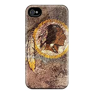 Iphone 4/4s Cases Covers - Slim Fit Tpu Protector Shock Absorbent Cases (washington Redskins)