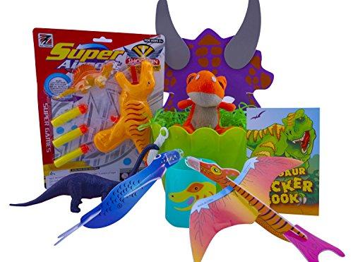 Basket Dinosaur Book (Ultimate Dinosaur Easter Basket Gift Includes Basket, Shred, Dart or Water Gun, Figurine, Plush, Gliders, Activity Book, Mask and Mug - Best Easter Gift for Boys - Great Stuffer)