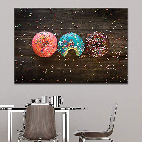 Donuts and Colorful Glaze Toppings