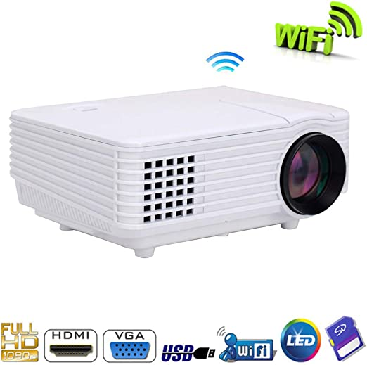 KAIDILA Proyector RD805 800Lumens 4.4 Android WiFi LED Mini ...
