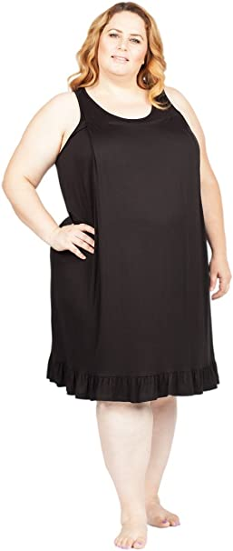 Savi Mom Plus Size Maternity Nursing Sleeveless Nightgown Breastfeeding  Lounge Dress Gown Nightie