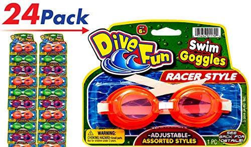 (2GoodShop Goggles Swim Dive Set (Pack of 24) Summer Pool & Sea Underwater Goggle 1170-24)