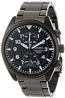 Seiko Men's SNN233 Chronograph Black Dial Watch by Seiko