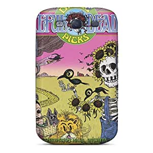 KellyLast Samsung Galaxy S3 Excellent Cell-phone Hard Cover Custom High-definition Grateful Dead Skin [Yuu4774fnHG]
