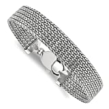 Sterling Silver Mesh 7.5in Bracelet 7.5'' - with Secure Lobster Lock Clasp (11.7mm)