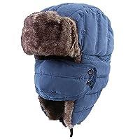 Onedayshop® Unisex Russian Style Winter Ear Flap Hat Mask Cap Warm Hunting Hat (Blue)