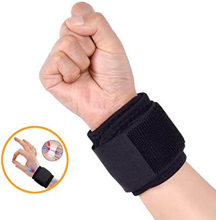 2Pcs Sport Wrist Brace Adjustable Wrists Support Wrap for Volleyball Tennis