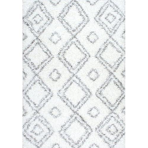 "NuLoom Iola Easy White 9'2""x12' Shag Area Rug"