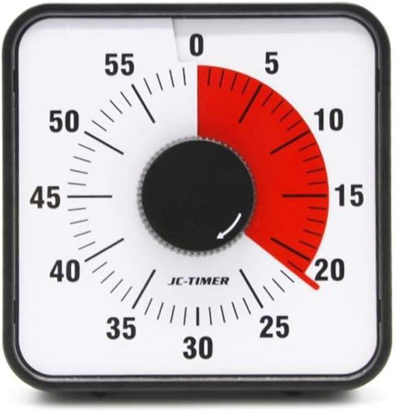 Horloge de Compte /à rebours de Salle de Classe ou de conf/érence pour Enfants 60 Minutes minuterie visuelle minuterie silencieuse