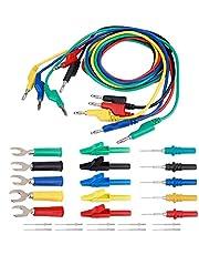 Banana Plug Kit, 4Mm Banana to Banana Plug Test Lead Kit for Multimeter Clip & UType Probe(P1036B)