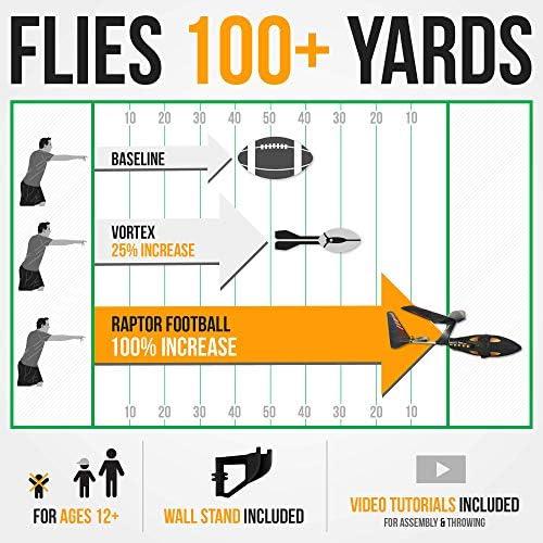 World/'s Farthest Flying Football! Raptor Football