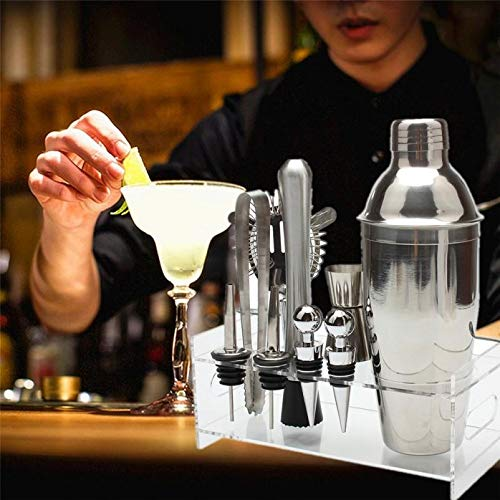 Muddler Cocktails Useful 10Pcs Cocktail Shaker Set With Acrylic Base Maker Mixer Spirits Muddler Registered by Mehtah Store