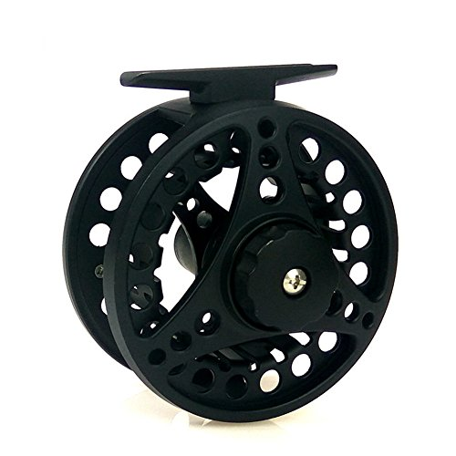 Cheap Meiyiu Fly Fishing Reel with Diecast CNC-machined 7/8 Weights 2+1BB Aluminum Alloy Body Fishing Reel Black