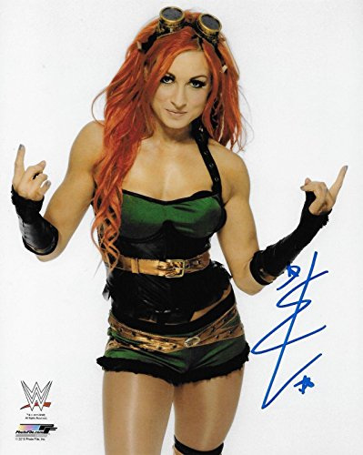 Becky Lynch Wwe Diva Signed Autograph 8x10 Photo #7 W/ Proof Wrestling Ink - Autographed Wrestling Photos
