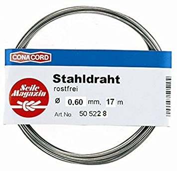 17m Stahldraht aus Edelstahl, Ø 0,6 mm: Amazon.de: Küche & Haushalt