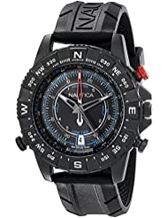 Nautica Mens NAD21001G NSR 103 TIDE TEMP COMPASS Watch with Black Band