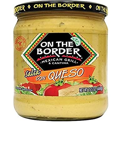 Truco Enterprises On The Border Salsa Con Queso, 15.5 oz - 4 Pack