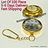 Mini Portable Pocket Brass Compass for Camping Hiking Outdoor Compass Lots