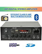 Digital Stereo Amplifier with Bluetooth HiFi/FM Radio / MP3 / Karaoke 100W 2xMIC