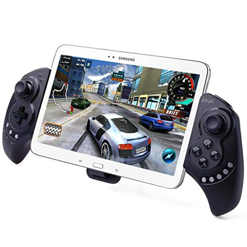 iPega PG-9023 Wireless Gamepad Game Controller, Telescopic Extendable Joystick for 5-10 inch Tablets Phones, Compatible with PC, Android, Samsung Galaxy Tab S3 S2 Note 9 Galaxy S10 S9+ S8+ Huawei (Best Games For Samsung Galaxy S3)