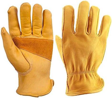 ガーデニング用手袋 革二層耐摩耗性滑り止めソフト保護乗馬屋外登山機関車手袋多目的 園芸 採掘 植栽 枝切り 防護手袋