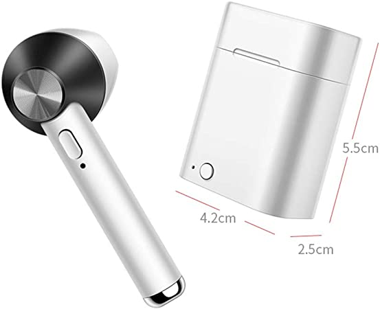 Kuajing Auriculares inalámbricos con Caja de Carga, Auriculares Bluetooth con Oreja única, Auriculares inalámbricos con reducción de Ruido,Black: Amazon.es: Hogar