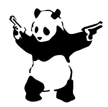 pro cut graphics adhesivo de vinilo para pared dibujo de oso panda