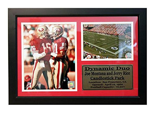 Encore Select 126-45 NFL San Francisco 49ers Framed Joe Montana and Jerry Rice Print with Nameplate, 12-Inch by 18-Inch